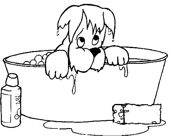 coloring pages of a bath - photo#1