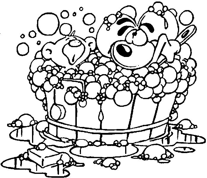 coloring pages bathtubs - photo#27