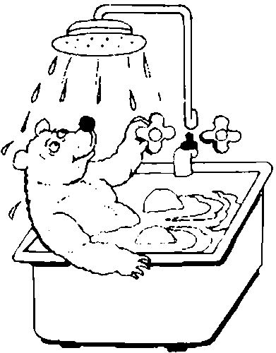 coloring pages of a bath - photo#9