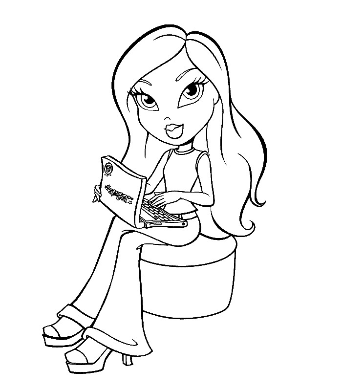 coloring pages bratz - photo#31