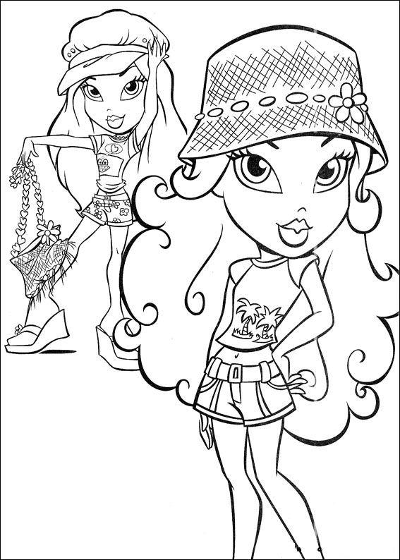 Bratz Coloring Pages Coloringpages1001 Com Bratz Coloring Pages Free