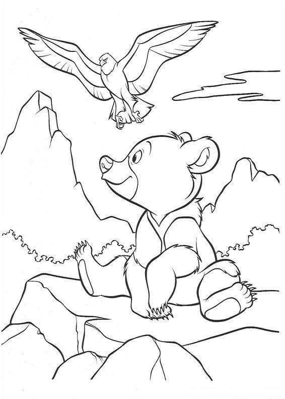 Brother bear Coloring Pages - Coloringpages1001.com