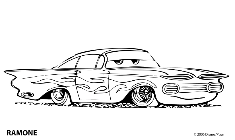 coloring pages of cars 2 - photo#21