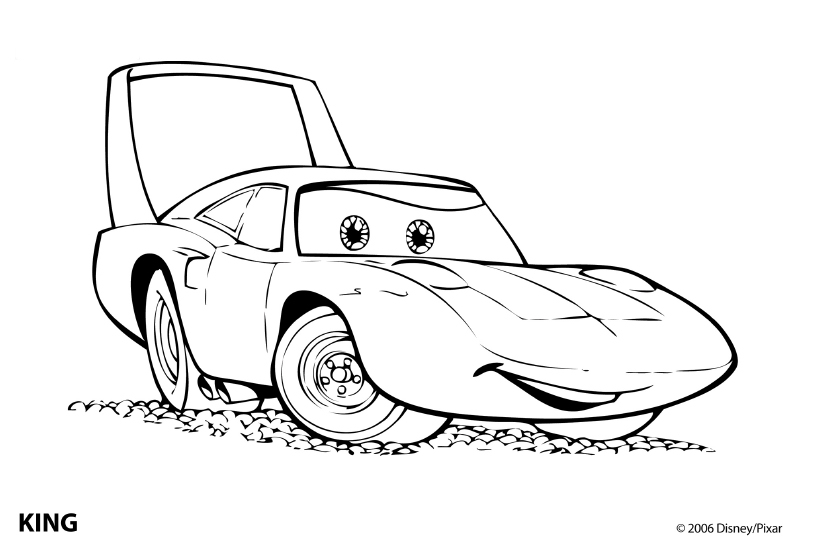 Free Coloring Pages Of Cars 2 Drawings