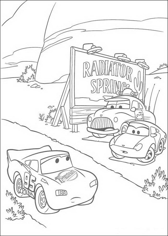 Cars Coloring Pages Coloringpages1001com
