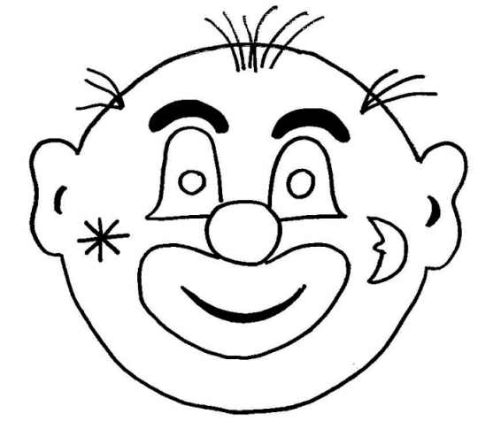 clown faces coloring pages - photo#29