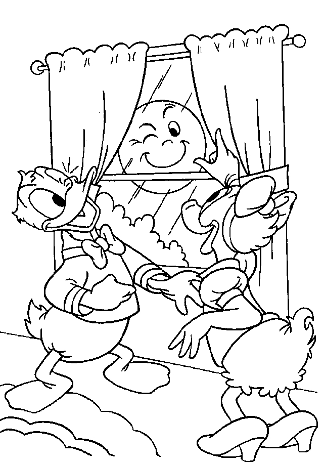 Kleurplaat Minnie Mouse Kerst Donald Duck Coloring Pages Coloringpages1001 Com