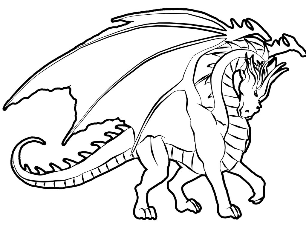 coloring pages for dragons-#1
