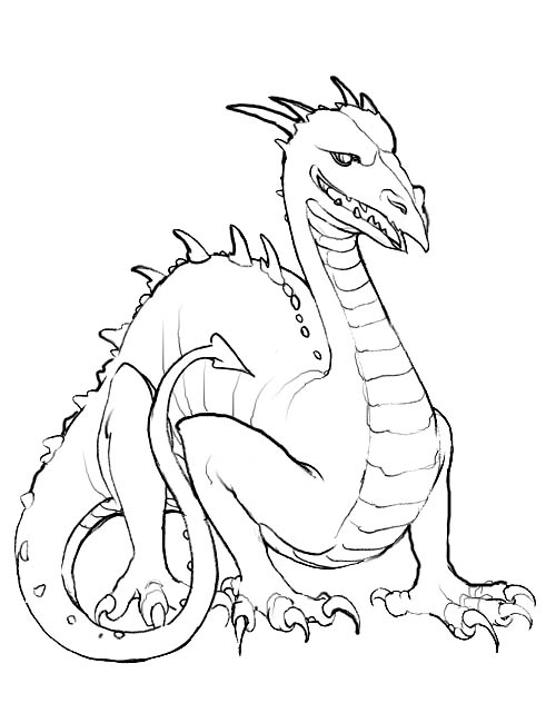 detailed dragon coloring pages - photo #39