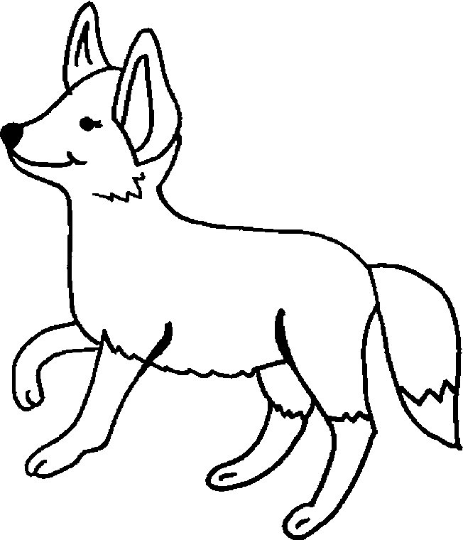 fox coloring pages for free - photo#23