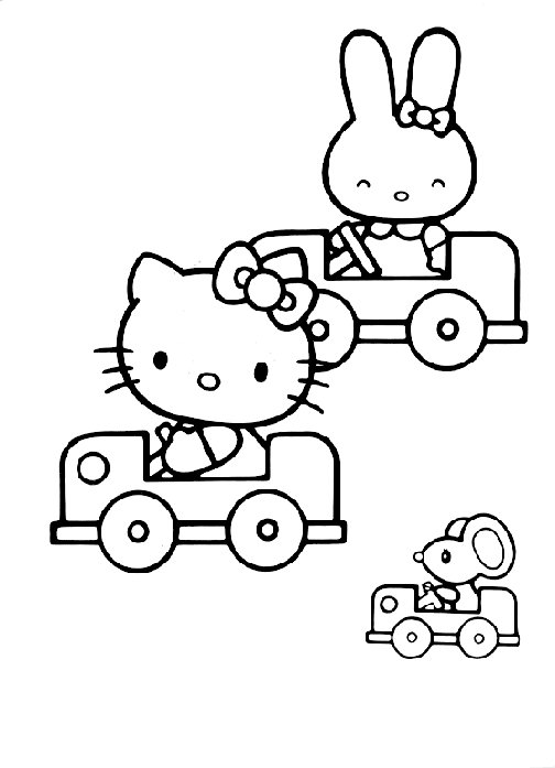 Hello Kitty Kleurplaten A4.Hello Kitty Coloring Pages Coloringpages1001 Com