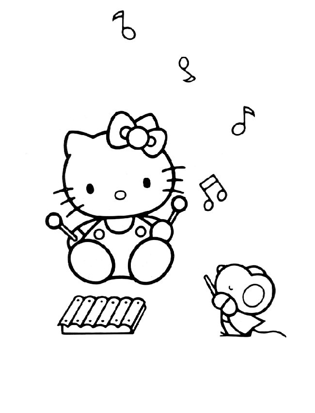 Kleurplaten Hello Kitty Princess.Hello Kitty Coloring Pages Coloringpages1001 Com