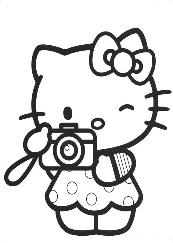 Hello kitty Coloring Pages - Coloringpages1001.com