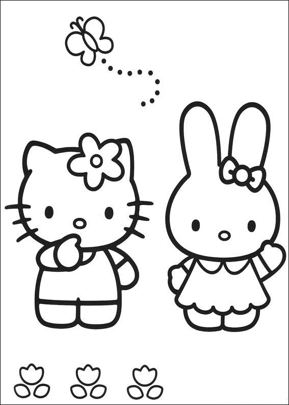 Hello Kitty Melody Coloring Pages : Hello kitty coloring pages coloringpages