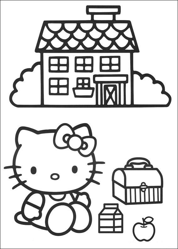 hello kitty coloring pages - coloringpages1001.com - Kitty Doctor Coloring Pages