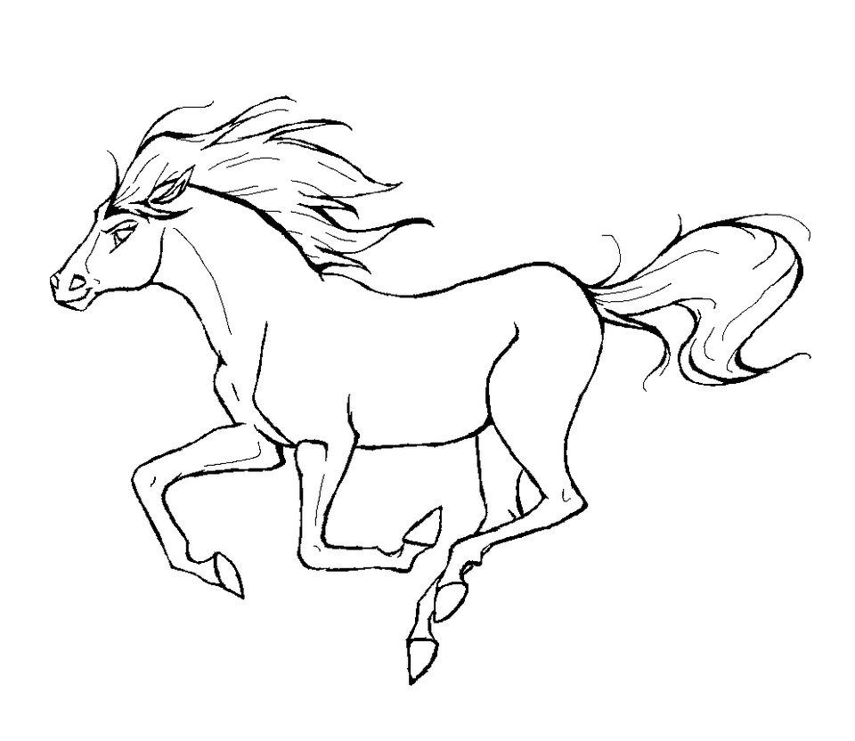Horse Coloring Pages - Coloringpages1001.com