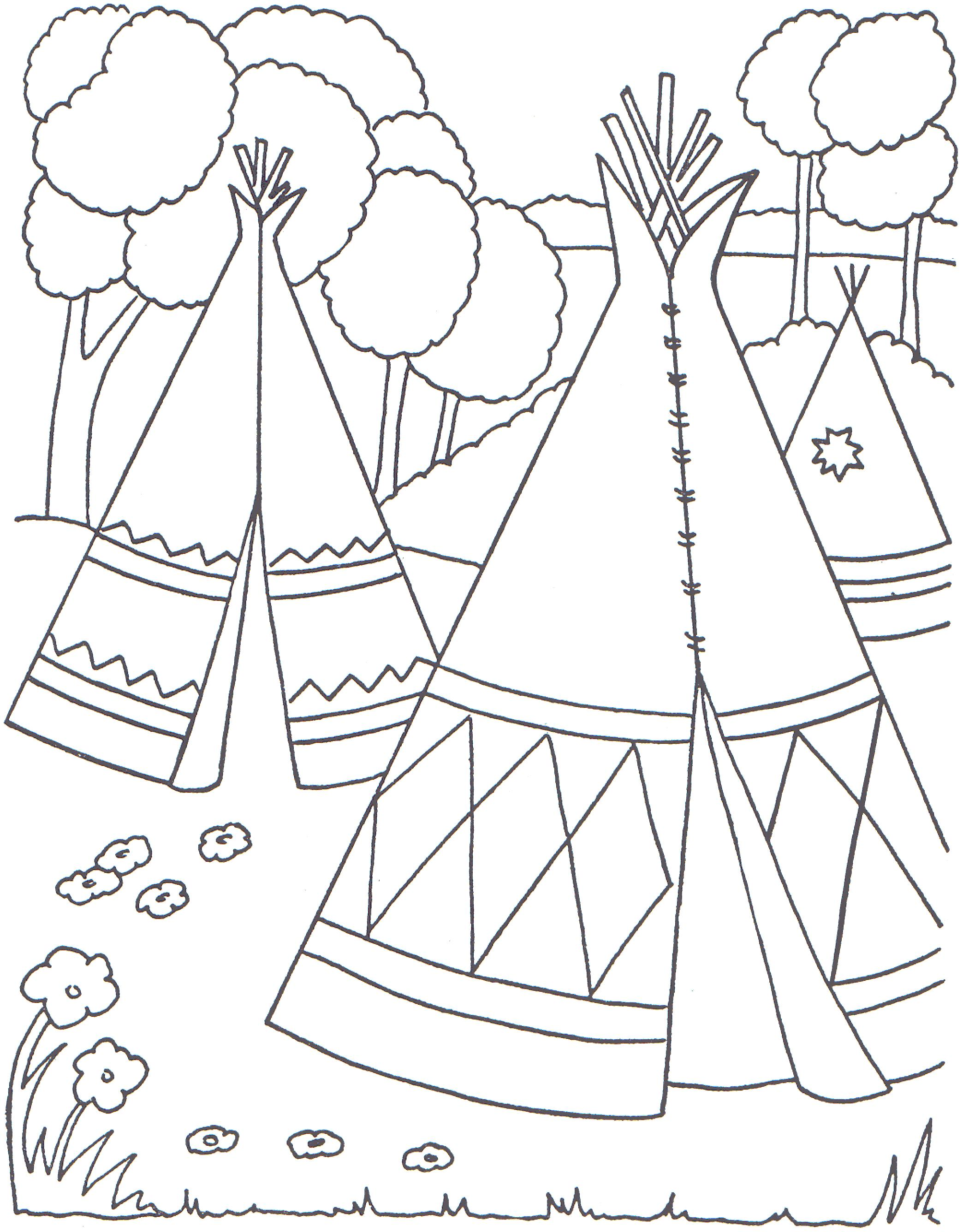 Indian Coloring Pages Coloringpages1001 Com Indian Coloring Pages