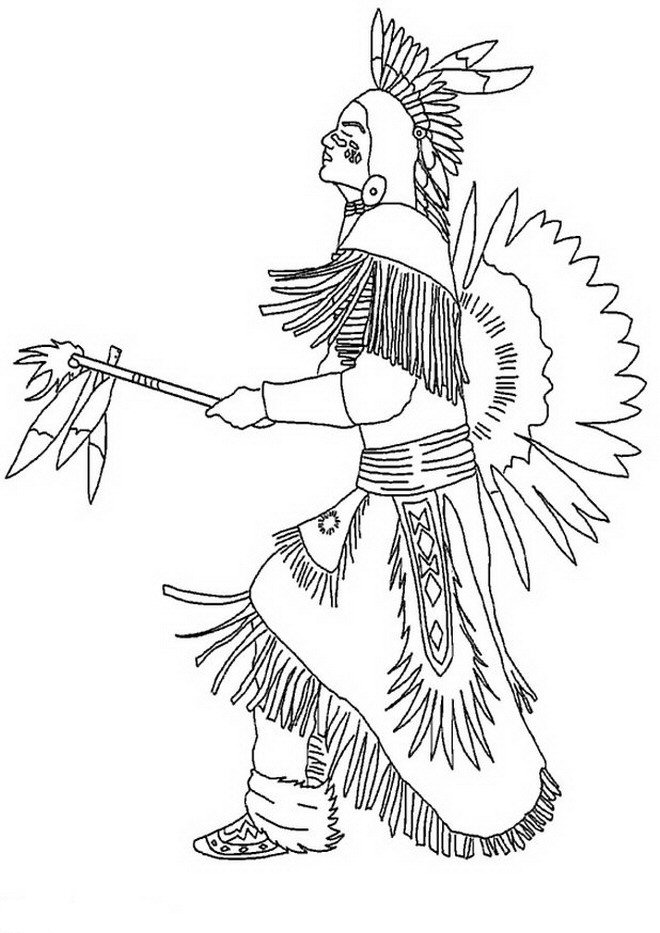coloring pages of indians - photo#7