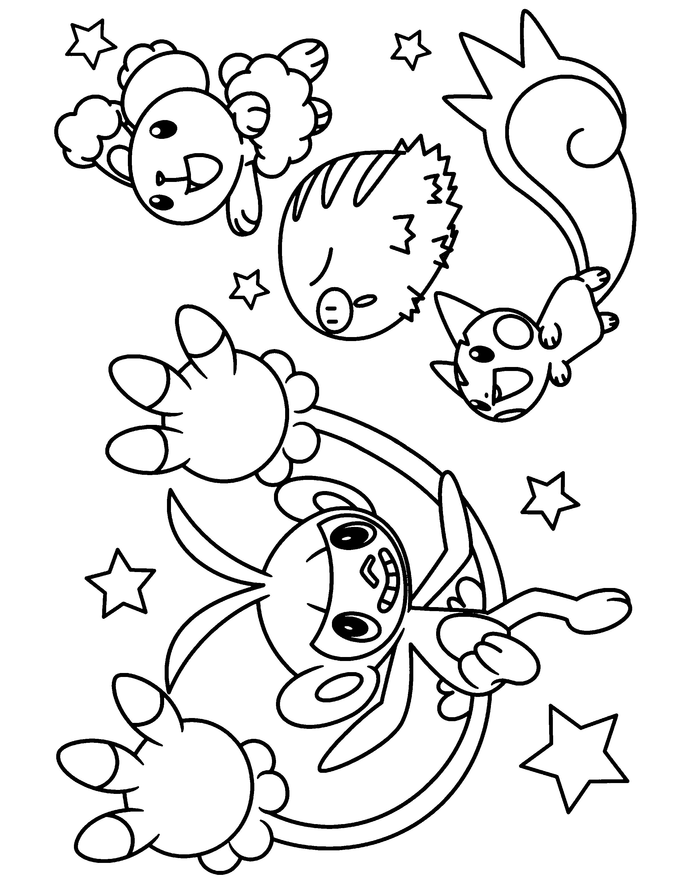 Pokemon diamond pearl Coloring Pages - Coloringpages1001.com