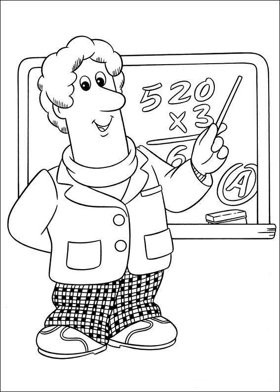 Postman pat coloring pages for Mailman coloring pages