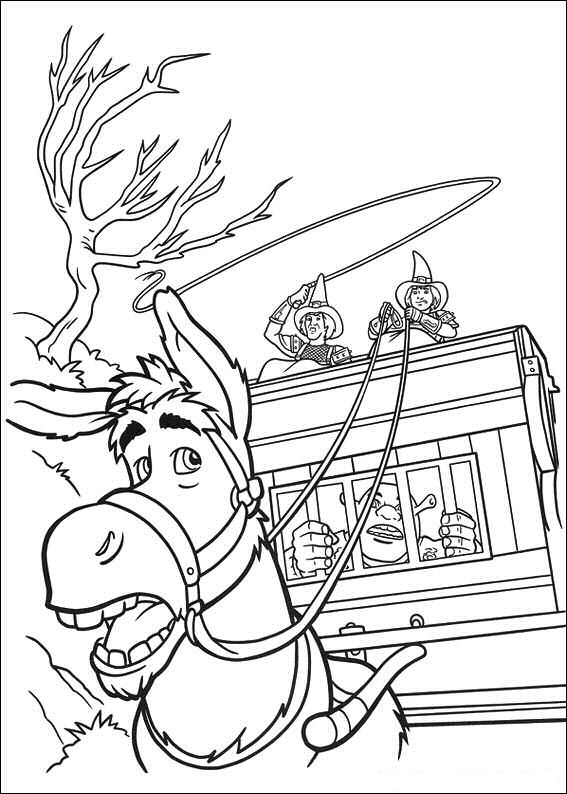 shrek 2 coloring book pages - photo#2