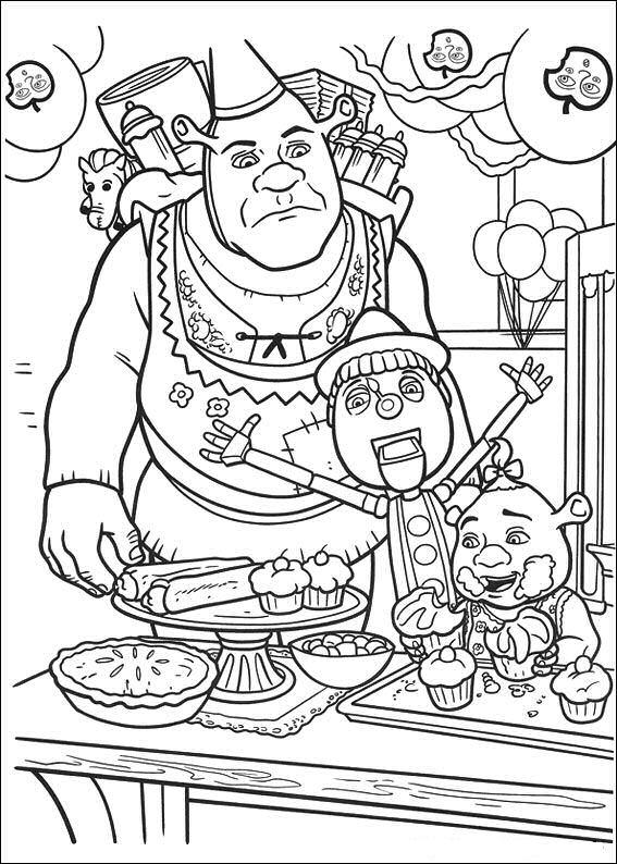 Shrek 4 Coloring Pages Coloringpages1001 Com