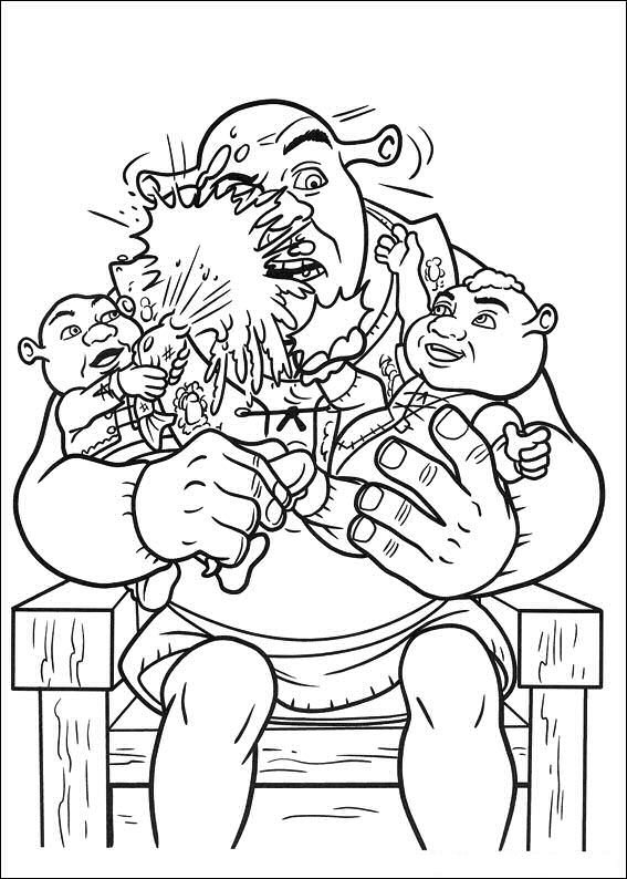 ogre baby shrek coloring pages - photo #22