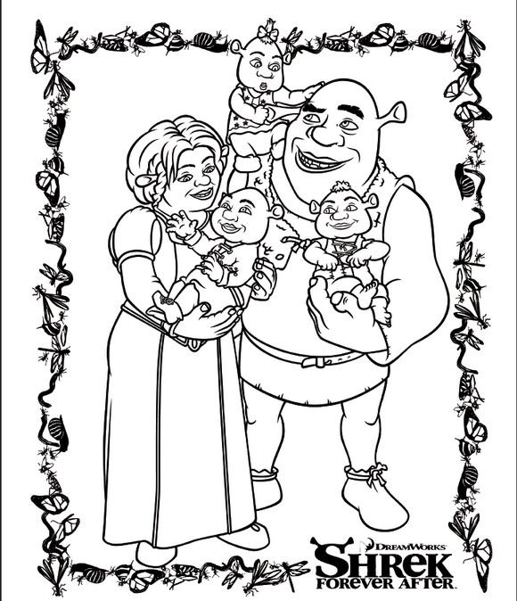 shrek 4 coloring pages coloringpages1001