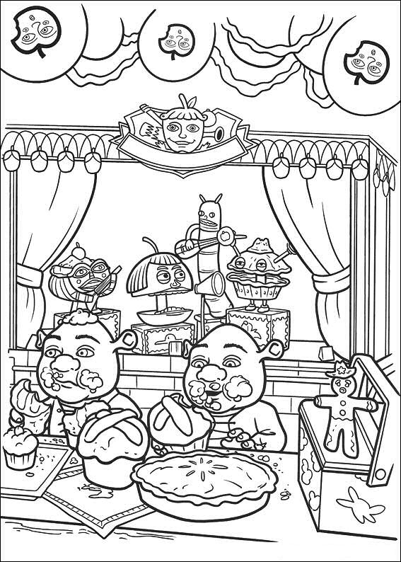 shreks house coloring pages - photo#14