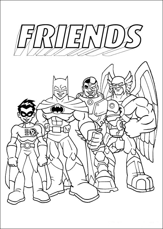 Free Coloring Pages Of Super Hero Friends