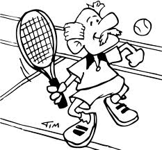 tennis coloring pages coloringpages1001