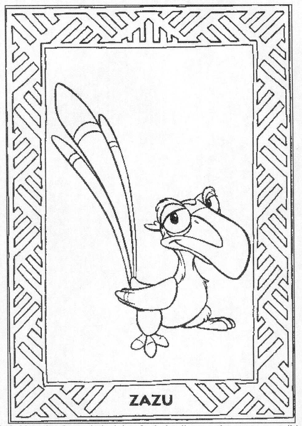 11 free printable the lion king coloring pages for kids all about -  The Lion King Coloring Pages