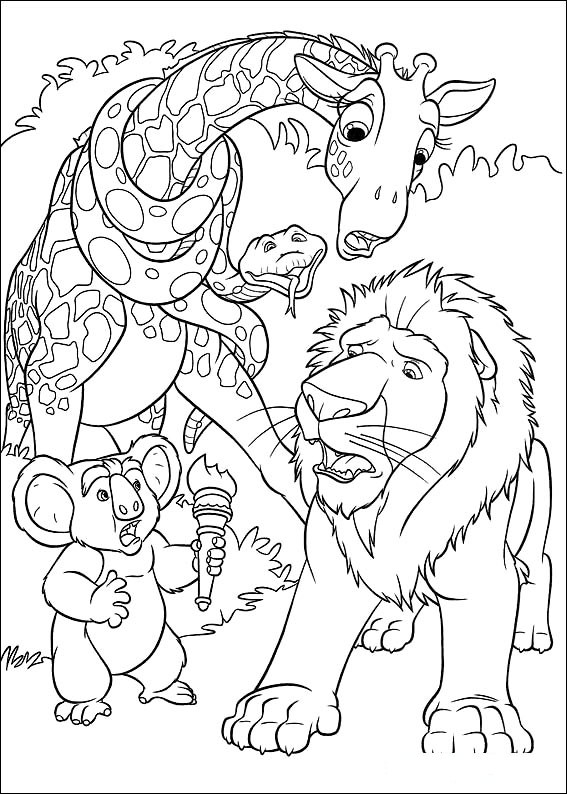 disneys the wild coloring pages - photo#37