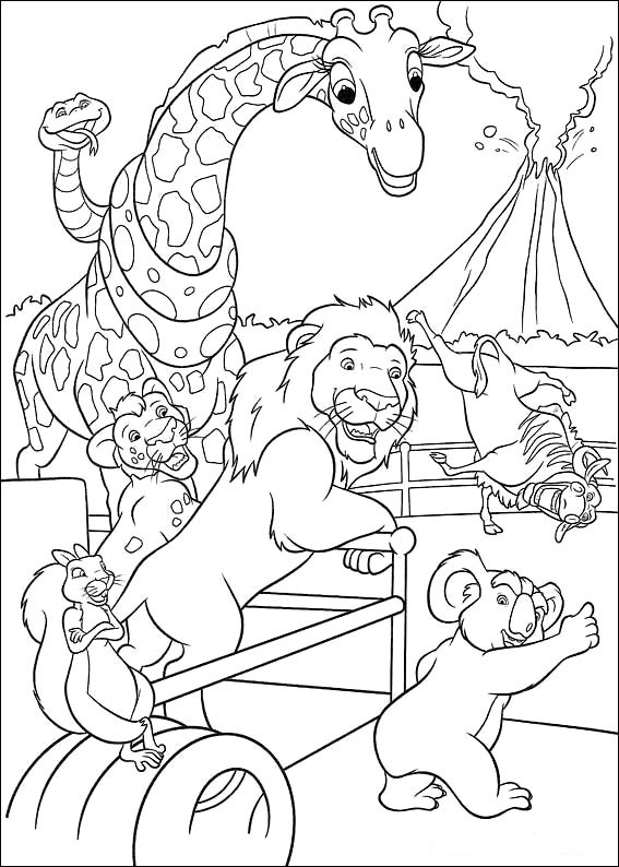 the wild coloring pages - photo#9