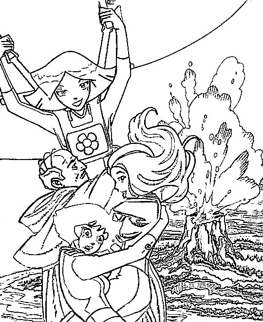 totally spies coloring pages coloringpages1001