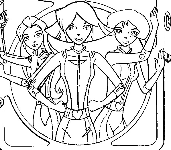 coloring pages of totally spies - photo#36