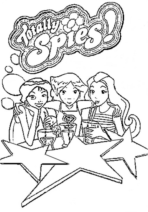 coloring pages of totally spies - photo#19