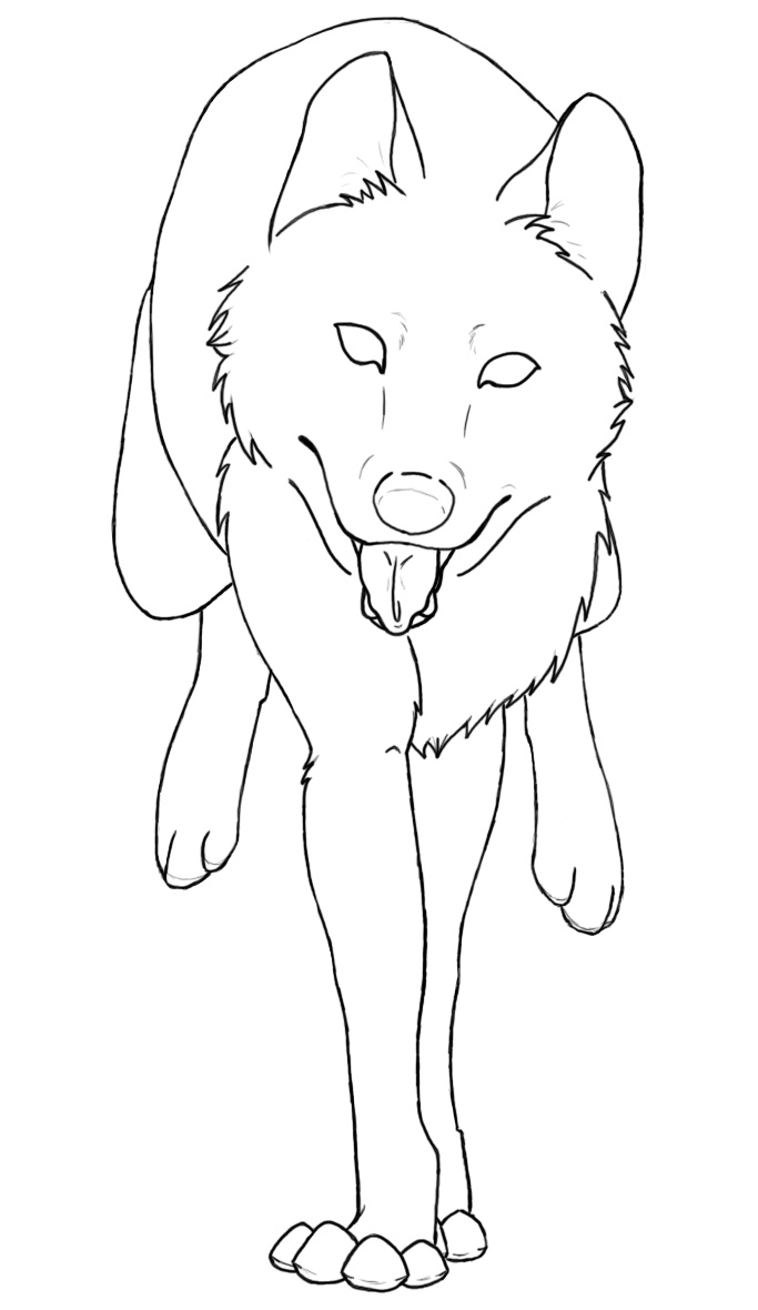 wolves coloring pages - photo#27