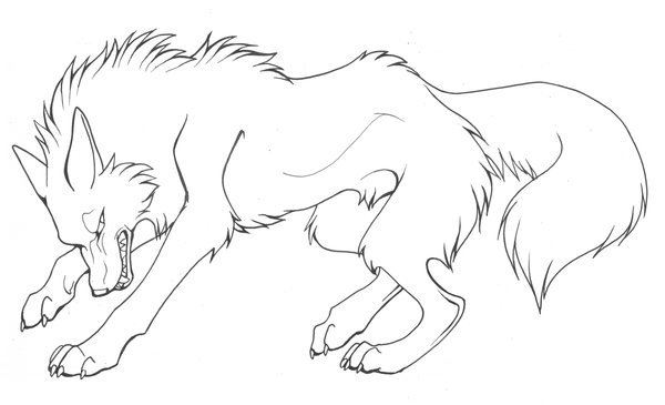 cool wolves Colouring Pages